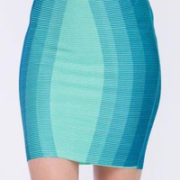 Jade Graphic Mini skirt