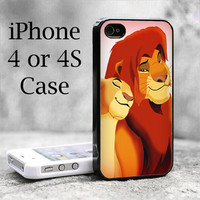 E21 Simba And Nala The Lion King m4 iPhone 4 case