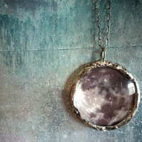 See You on the Dark Side of the Moon Necklace by Renata and Jonathan