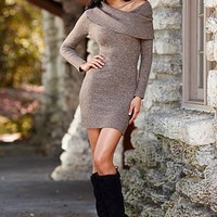 Off shoulder sweater dress from VENUS