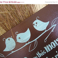 Fab Five Birthday Sale Three Little Birds Fun, Expressive Word Canvas wall decor, for Home, Office, Dorm, Bedroom, Kids Room wall art