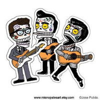 Music Calaveras Vinyl Sticker 3-Pack