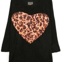 I LOVE LEOPARD BLOUSE