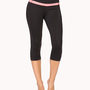 Contrast Stripe Athletic Capris