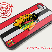 Chicago Blackhawks IPhone Case Apple Phone iPhone 4 4S Case Cover