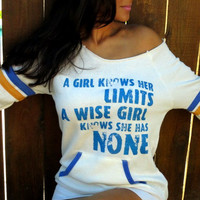 No Limits  Off the Shoulder Girly by FiredaughterClothing on Etsy
