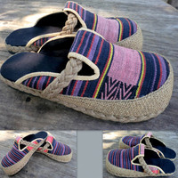 Ladies Shoes In Tribal Ethnic Naga Woven by SiameseDreamDesign