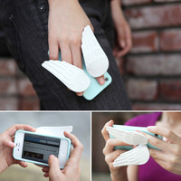 Angel Wing Silicone Stand Case Cover for iPhone 4/4S