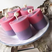 Cotton Candy scented Soy  Votive Candles - Hand Poured Soy Candles - (5)Two Ounce Votive Candles