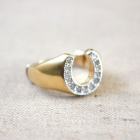 horseshoe ring by Thrush on Etsy