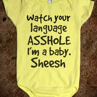 Watch your language - Hipster Apparel - Skreened T-shirts, Organic Shirts, Hoodies, Kids Tees, Baby One-Pieces and Tote Bags