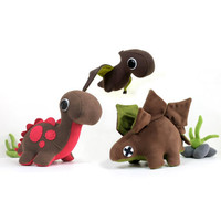 5 Piece Eco Plush Dinosaur Set Featured in STUFFED by ecoLEFTZ