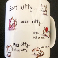 Soft Kitty Mug with Personalised Name or message