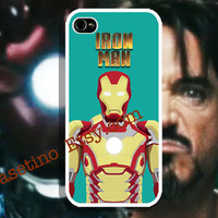 iPhone 5 Case - IRON MAN, Emerald Green, Hero Movie iPhone 4 case, iPhone 4S case, Hard Plastic Case, IRONMAN