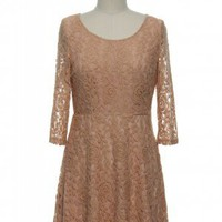 In Love With Lace Dress in Peach
