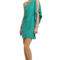 Teal Draped Dream Dress | Rent The Runway