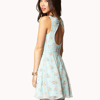 Multicolored Floral Print Dress | FOREVER 21 - 2035289563
