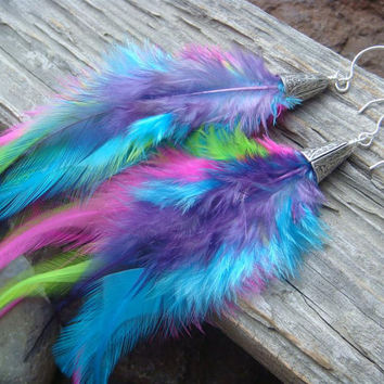Tie Dye MultiColor Super Long and Bright by PurplePansy333