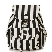 Stripe Denim Backpack - Bags &amp; Purses - Bags &amp; Accessories - Topshop