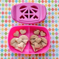 FunBites Hearts - Cuts kids&#x27; food into fun-shaped bite-sized pieces . . . Great for picky eaters and bento!