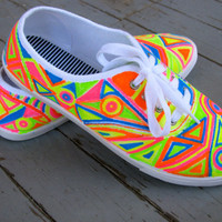 NEON SHOES by MACHINEFISTS on Etsy