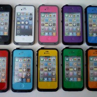 iPHONE 4/4S WATER-PROOF LIFE CASES !  AVAILABLE IN 10-COLORS
