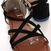 Black Strappy Open Toe Sandals