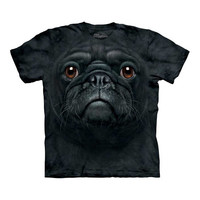 Big Face Black Pug T-Shirt at Firebox.com