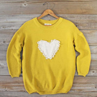 Follow Your Heart Sweater in Honey, Sweet Bohemian Sweaters
