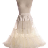 Volume Up Crinoline in Ivory - $64.95 : Indie, Retro, Party, Vintage, Plus Size, Convertible, Cocktail Dresses in Canada