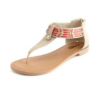 Zip-Back Tribal Woven Sandal: Charlotte Russe