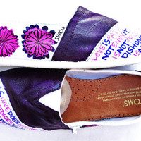 The Chrissy - Purple and White Custom TOMS