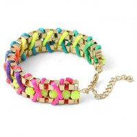 Neon Multi-Color Chain Braceles