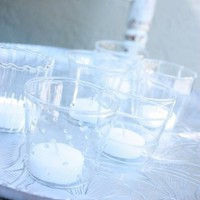 Set of Six Glass Candle Holders for sale online from Carolina Boutique in Mill Valley