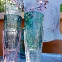 Large Handworked glass tumblers - Set of 6 for sale online from Carolina Boutique in Mill Valley