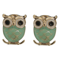 Epoxy Owl Button Earring | Shop Summer Roadtrip at Wet Seal