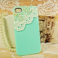 Lace with Pearl Case for iPhone 4/4s