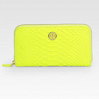 Tory Burch - Snake-Embossed Leather Zip-Around Wallet