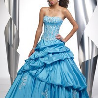 2012 Ball Gown Floor Length Strapless Light Blue Pd1091 Embroidery Prom Dress Style [dressnl3896] - $105.00 : dressnl.com, Prom Dresses Holland online shop