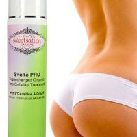 Svelte PRO Supercharged Organic Anti-Cellulite Treatment with L&#x27;Carnitine, CoQ10 and 25 Fat Fighting Slimulators