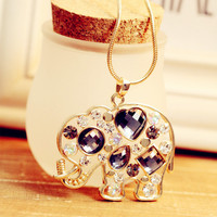 accessoryinlove — Sparkling Rhinestone Elephant Necklace