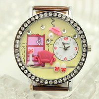 Aliexpress.com : Buy Fashion polymer clay watch soft sofa ladies watch fashion table vintage student watch rhinestone from Reliable Wristwatches suppliers on Sleeping-lover