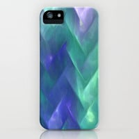Underwater Chevron iPhone Case by Ally Coxon | Society6