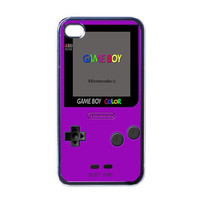 iPhone 4 Case Purple Gameboy Color iPhone 4/4s by creatyfullshop