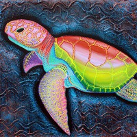 Kemp&#x27;s Ridley Sea Turtle &quot;Sea Of Portugal&quot; Art Prints by Laura Barbosa - Shop Canvas and Framed Wall Art Prints at Imagekind.com