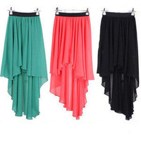 Front and Back Irregular Skirt