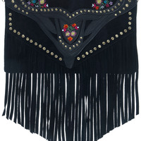 Leather Embroidered Clutch - View All - New In - Miss Selfridge
