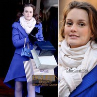 Leighton Meester In T05L Coat - Celebrity Dresses - Apparel