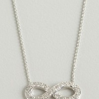 Elements by KC Designs white gold and diamond infinity charm necklace | BLUEFLY up to 70 off designer brands