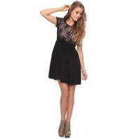 Bqueen Fake Two Lace Dress F122H - Designer Shoes|Bqueenshoes.com
